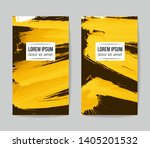 set of vector business card... | Shutterstock .eps vector #1405201532