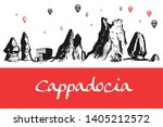 cappadocia hand drawn turkish... | Shutterstock .eps vector #1405212572