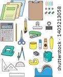 a lot of stationery image... | Shutterstock .eps vector #1405213058