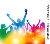 summer crowd party   vector... | Shutterstock .eps vector #140521522