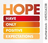 hope   hanging onto positive... | Shutterstock .eps vector #1405216238