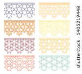 set of colorful seamless... | Shutterstock .eps vector #1405219448