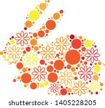 magical floral circle animals... | Shutterstock .eps vector #1405228205
