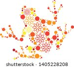 magical floral circle animals... | Shutterstock .eps vector #1405228208
