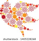 magical floral circle animals... | Shutterstock .eps vector #1405228268