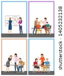 strategy successful team... | Shutterstock . vector #1405232138