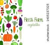 hand drawn cartoon vegetables...   Shutterstock .eps vector #1405237325
