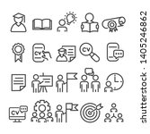 education minimal icons set...   Shutterstock .eps vector #1405246862