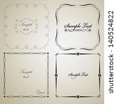 calligraphic vintage frame... | Shutterstock .eps vector #140524822