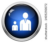 man boss with subordinate icon. ... | Shutterstock .eps vector #1405250072