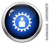 teamwork icon. glossy button... | Shutterstock .eps vector #1405250075