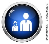 man boss with subordinate lady... | Shutterstock .eps vector #1405250078