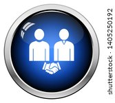 two man making deal icon.... | Shutterstock .eps vector #1405250192