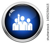 voting man with men behind icon.... | Shutterstock .eps vector #1405250615