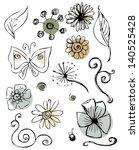 Daisy Doodle Scribble Flowers...