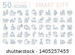 set of vector line icons of... | Shutterstock .eps vector #1405257455