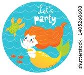 let's party summer design.... | Shutterstock .eps vector #1405260608
