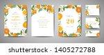 set of botanical wedding... | Shutterstock .eps vector #1405272788