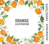botanical wedding invitation... | Shutterstock .eps vector #1405273295