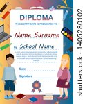 diploma template for preschool...   Shutterstock .eps vector #1405280102