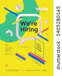 we are hiring poster or flyer... | Shutterstock .eps vector #1405280165
