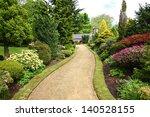 beautiful spring garden design | Shutterstock . vector #140528155
