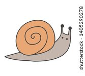 funny snail cartoon icon.... | Shutterstock .eps vector #1405290278