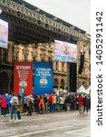 milan  italy   18 may 2019 ... | Shutterstock . vector #1405291142