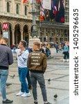 milan  italy   18 may 2019 ... | Shutterstock . vector #1405296635