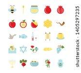 shana tova   jewish holiday... | Shutterstock .eps vector #1405297235