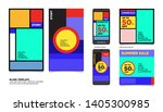 geometric colorful flat summer... | Shutterstock .eps vector #1405300985