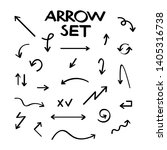 hand drawn arrow collection ... | Shutterstock . vector #1405316738
