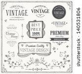vintage frames and design... | Shutterstock .eps vector #140531806