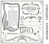 vintage frames and design... | Shutterstock .eps vector #140531812