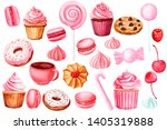 set of elements for design on a ... | Shutterstock . vector #1405319888