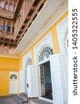 Yellow Wall  White Wooden Door...
