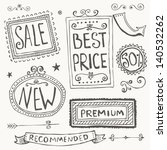 hand drawn doodle frames and... | Shutterstock .eps vector #140532262
