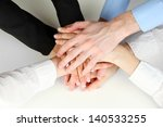 group of young people's hands... | Shutterstock . vector #140533255