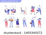 business people vector set.... | Shutterstock .eps vector #1405340372