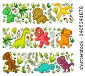 pattern kids fabric  textile ...   Shutterstock .eps vector #1405341878