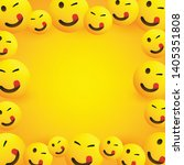 background frame with smiling ... | Shutterstock .eps vector #1405351808
