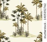 tropical vintage  botanical... | Shutterstock .eps vector #1405352762