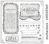 frame sketch pencil doodle hand ...   Shutterstock .eps vector #140535565