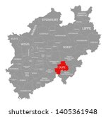 olpe county red highlighted in... | Shutterstock . vector #1405361948
