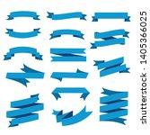 lassic ribbons. flat vector... | Shutterstock .eps vector #1405366025