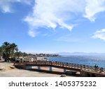 the bridge in dahab  egypt.... | Shutterstock . vector #1405375232
