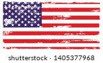 grunge usa flag.  american flag ...   Shutterstock .eps vector #1405377968
