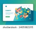 isometric charity concept...