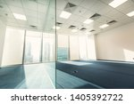 bright spacious empty office in ... | Shutterstock . vector #1405392722