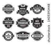 business badges vector set in... | Shutterstock .eps vector #1405393448